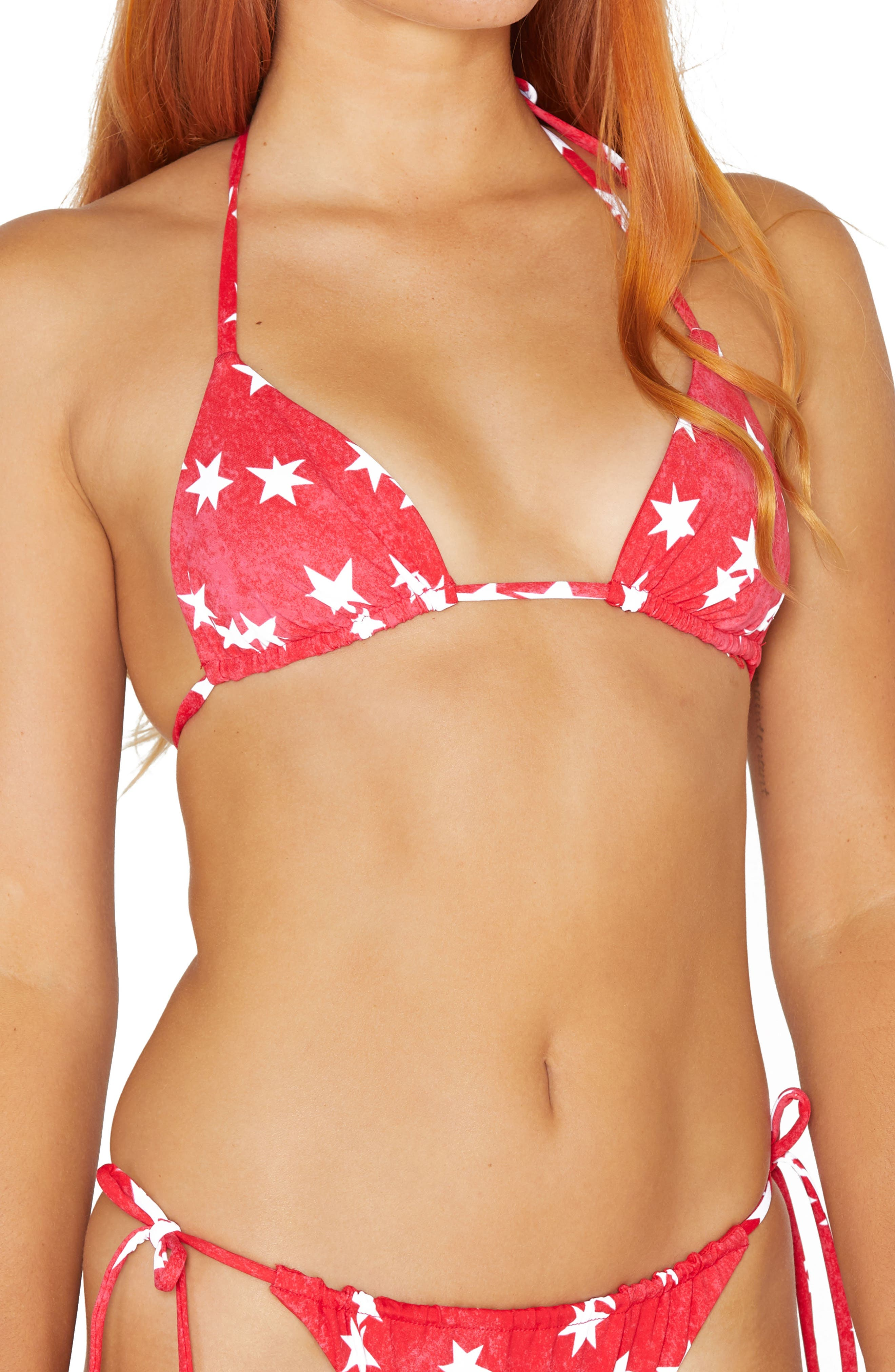 Star Spangled Reversible Bikini Top