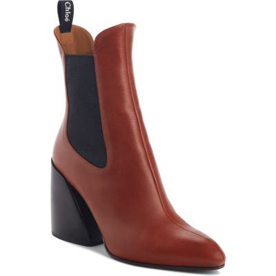 Chloe Wave Chelsea Bootie, Brown
