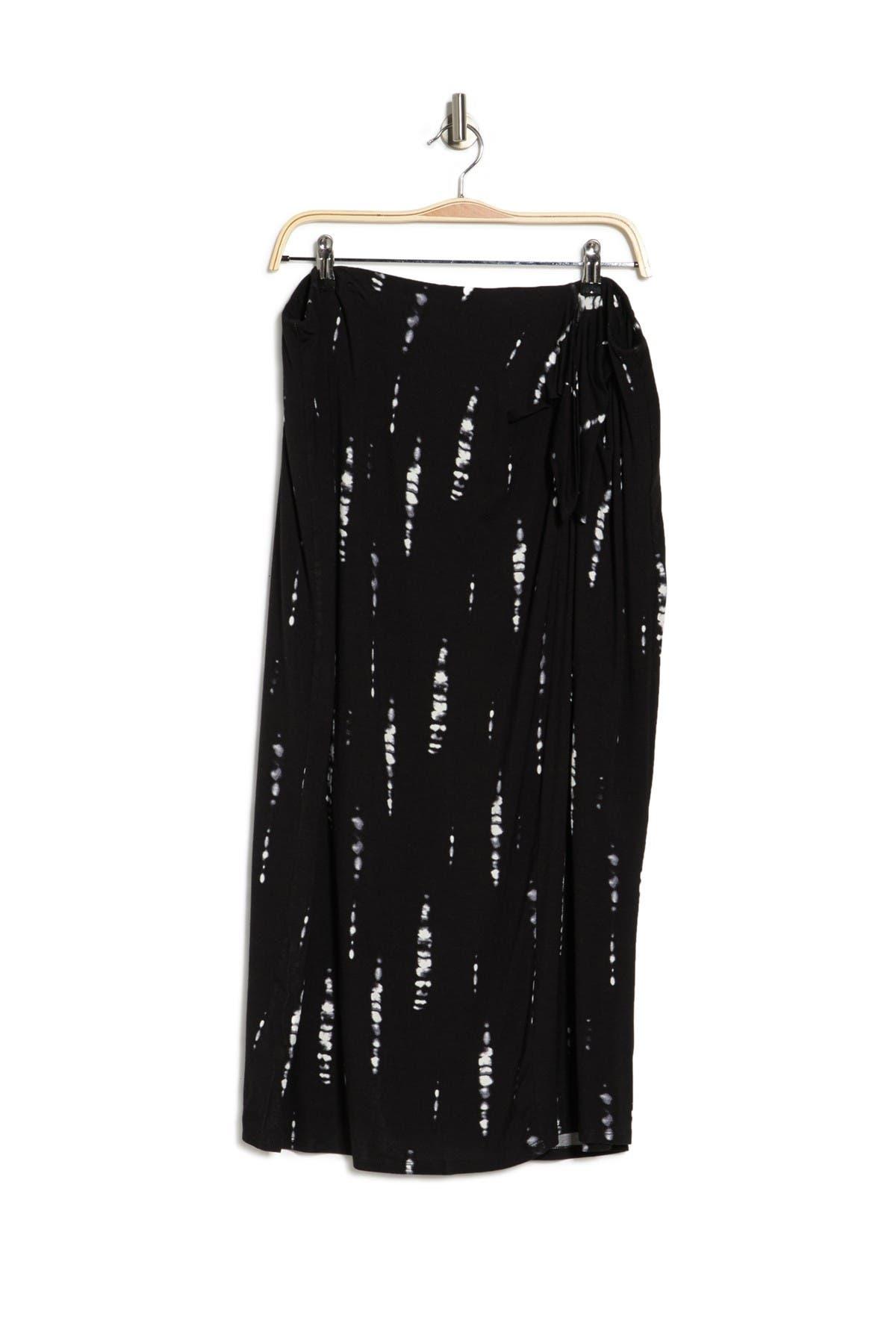 Image of Bobeau Side Tie Midi Skirt