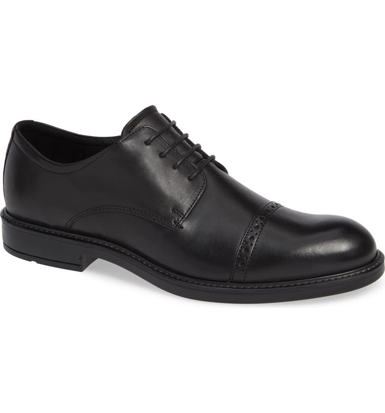 ECCO Vitrus III<sup>™</sup> Cap Toe Derby, Main, color, BLACK LEATHER