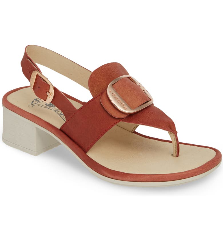 FLY LONDON Emat Thong Sandal, Main, color, RASPBERRY LEATHER