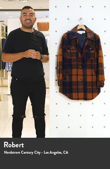 Button Front Plaid Shirt Jacket, sales video thumbnail
