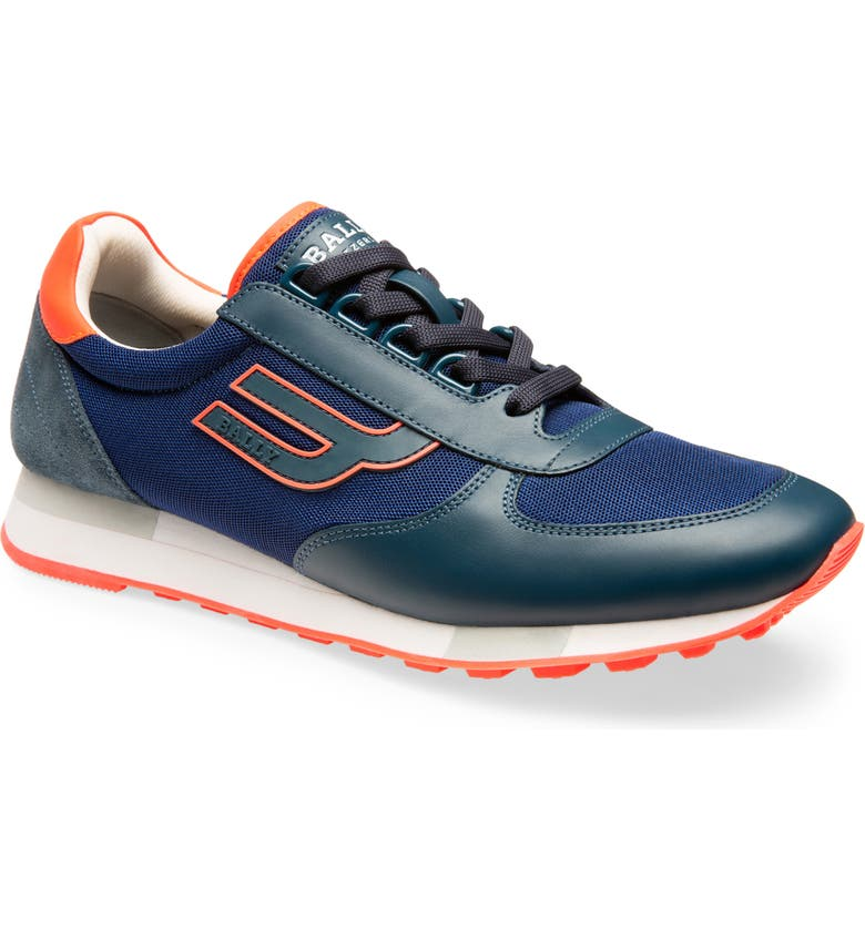 BALLY Gavino Low Top Sneaker, Main, color, PRUSSE BLUE/ BLUE