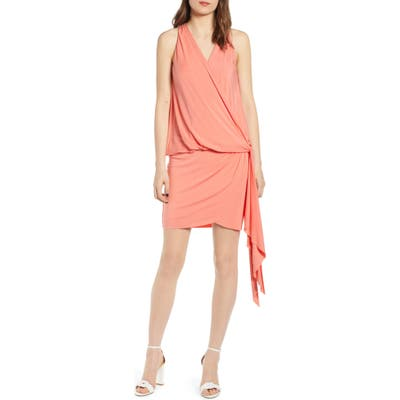Bailey 44 New Dimension Faux Wrap Minidress, Orange