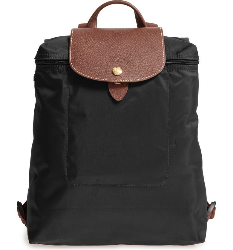 LONGCHAMP 'Le Pliage' Backpack, Main, color, BLACK