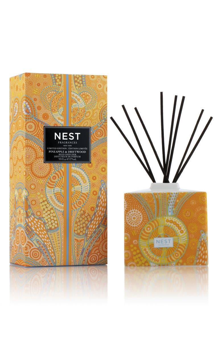 NEST FRAGRANCES Summer Scape Pineapple & Driftwood Reed Diffuser, Main, color, 000