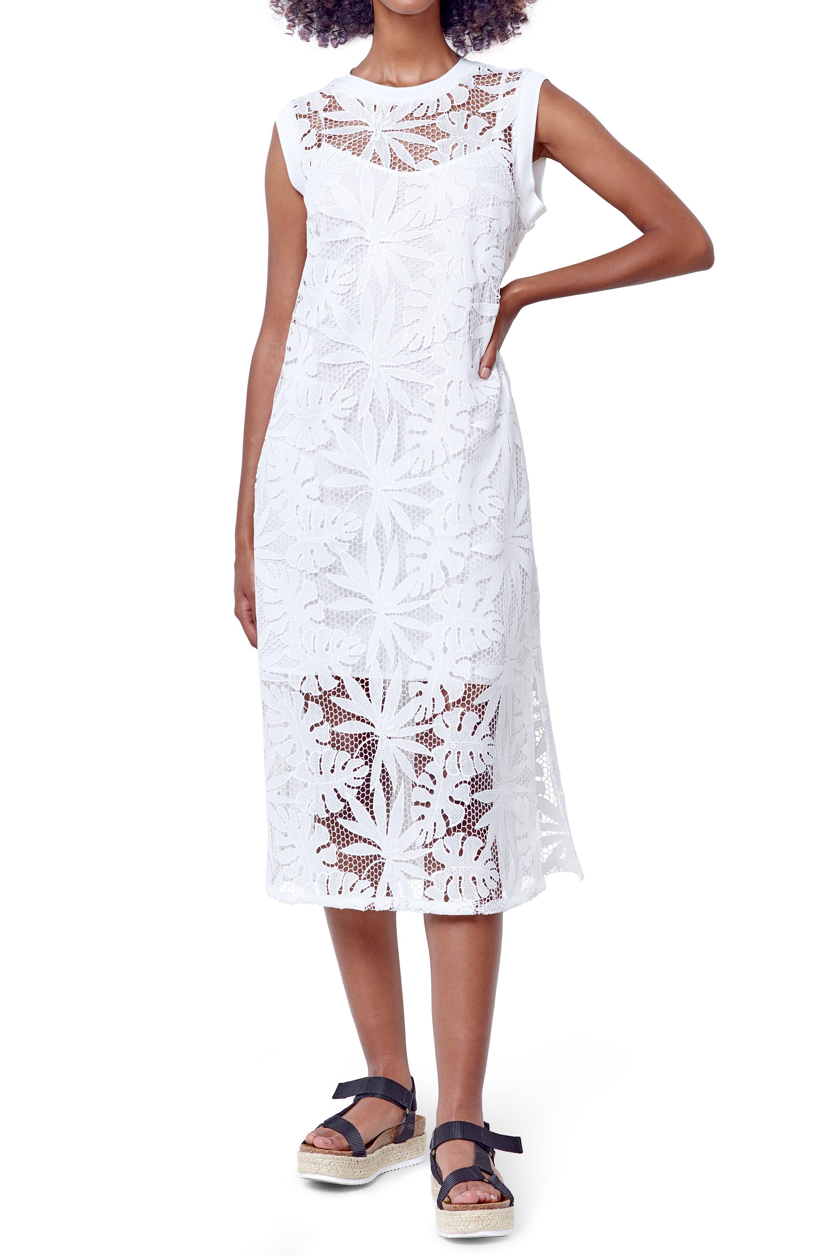 Delilah Monstera Lace Midi Dress