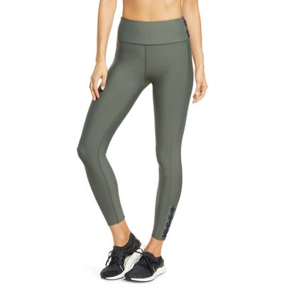 Soul By Soulcycle High Waist Lace-Up Tights, Green