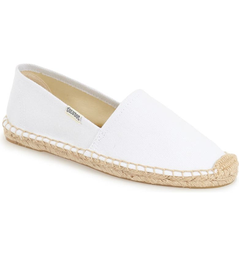 SOLUDOS 'Original Dali' Espadrille Slip-On, Main, color, WHITE CANVAS