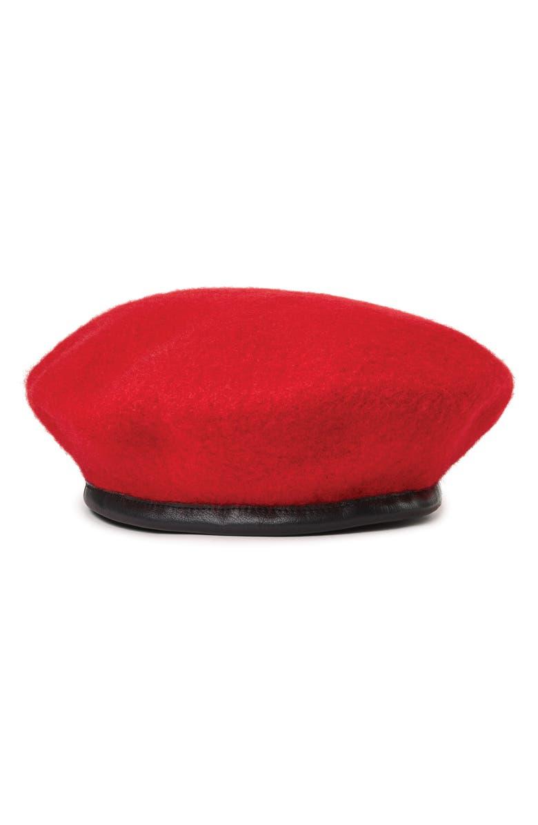 BRIXTON Lennon Beret, Main, color, RED