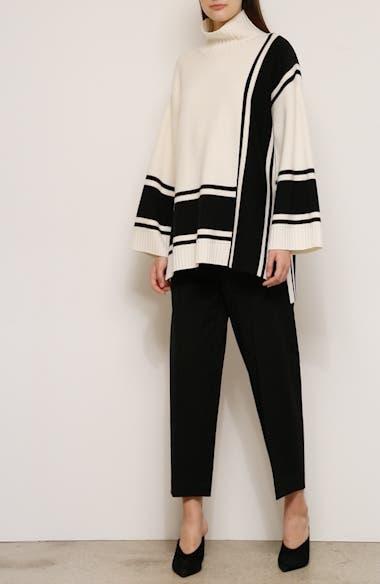 Bold Stripe Mock Neck Sweater, video thumbnail