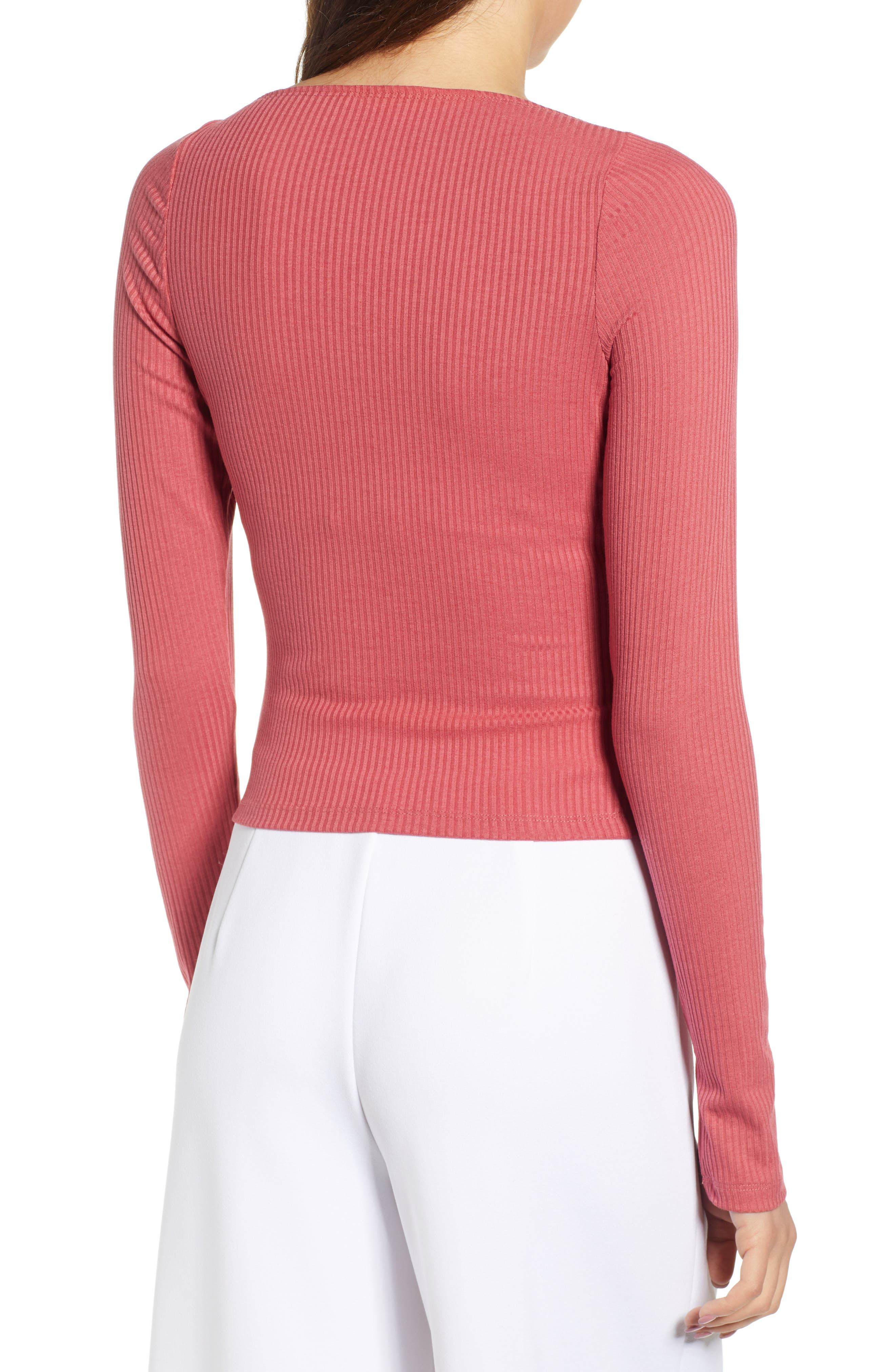 ,                             Square Neck Ribbed Tee,                             Alternate thumbnail 2, color,                             630