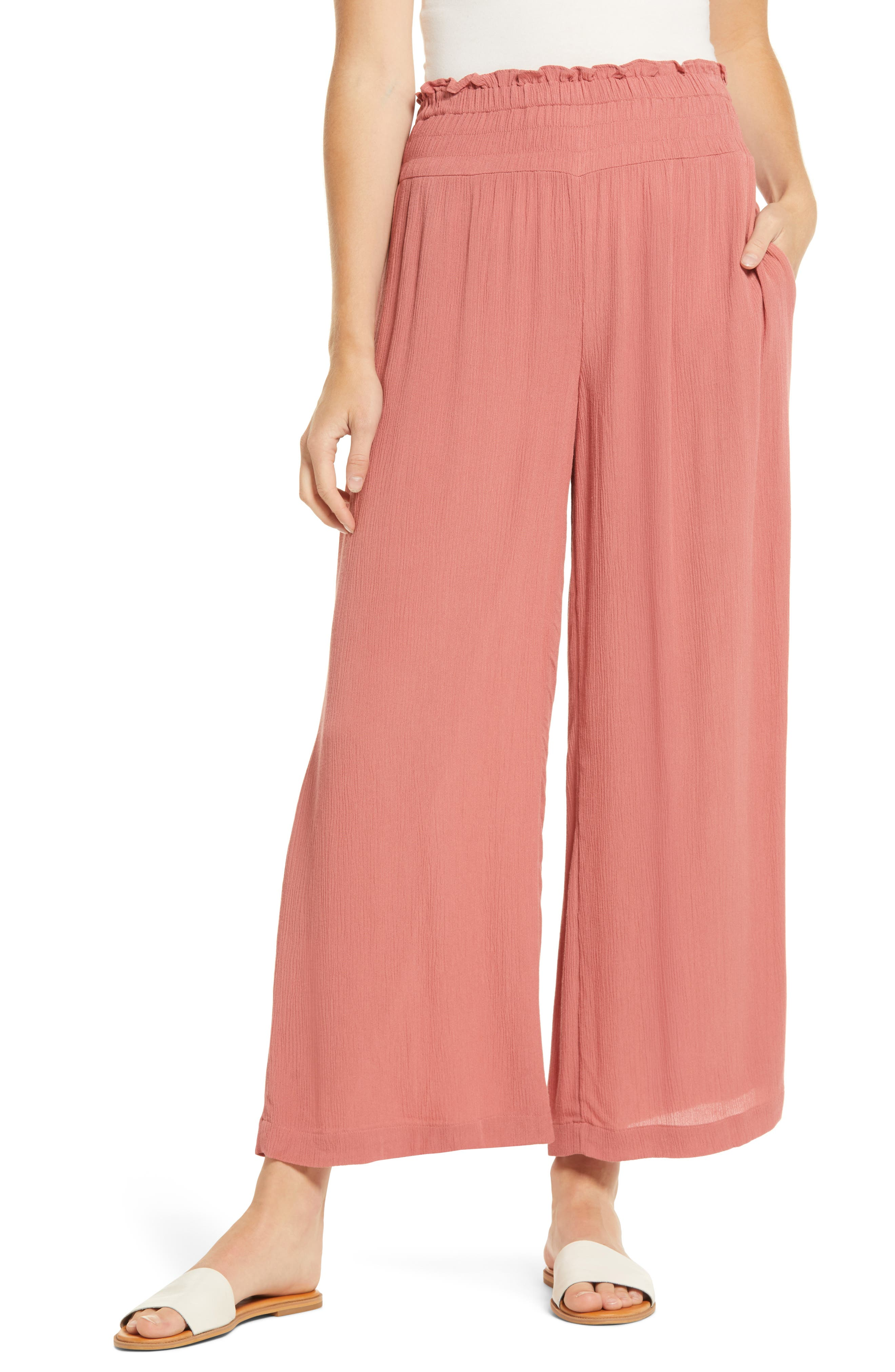 Image of 1.State Gauze Pull-On Wide Leg Pants