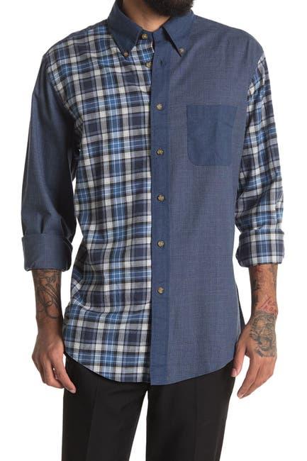 Image of Brooks Brothers Colorblocked Plaid Print Regular Fit Shirt
