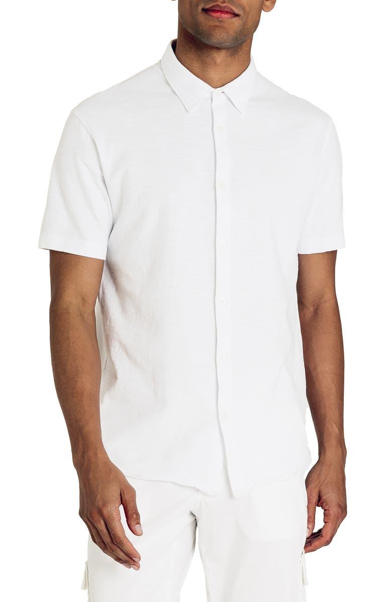 Good Man Brand Slubbed Knit Slim Fit Shirt