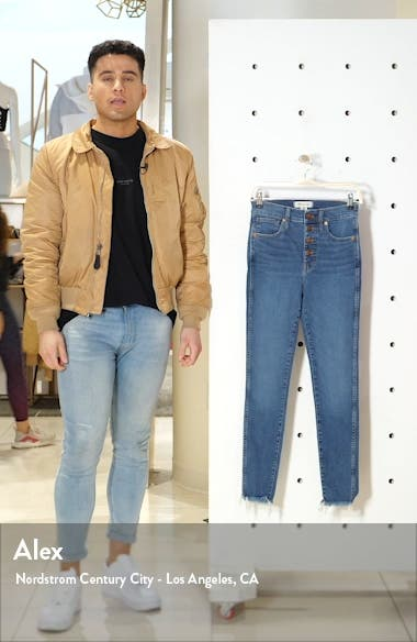10-Inch High-Rise Skinny Jeans: Button-Front Edition, sales video thumbnail
