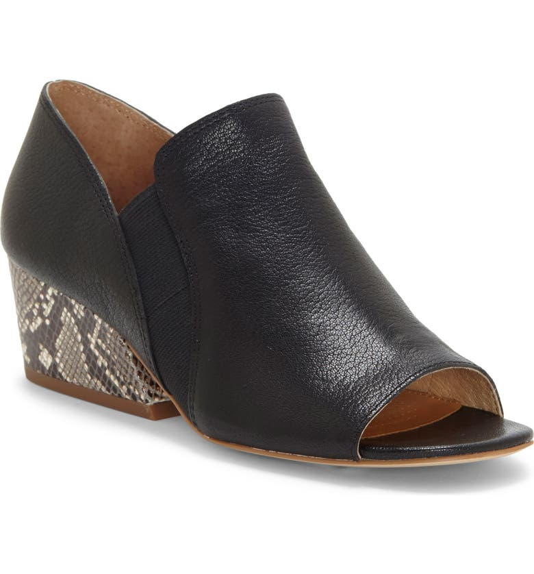 CC CORSO COMO<SUP>®</SUP> Solanya Peep Toe Bootie, Main, color, BLACK LEATHER