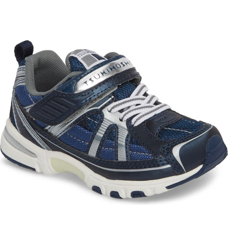 TSUKIHOSHI Storm Washable Sneaker, Main, color, NAVY/ SILVER
