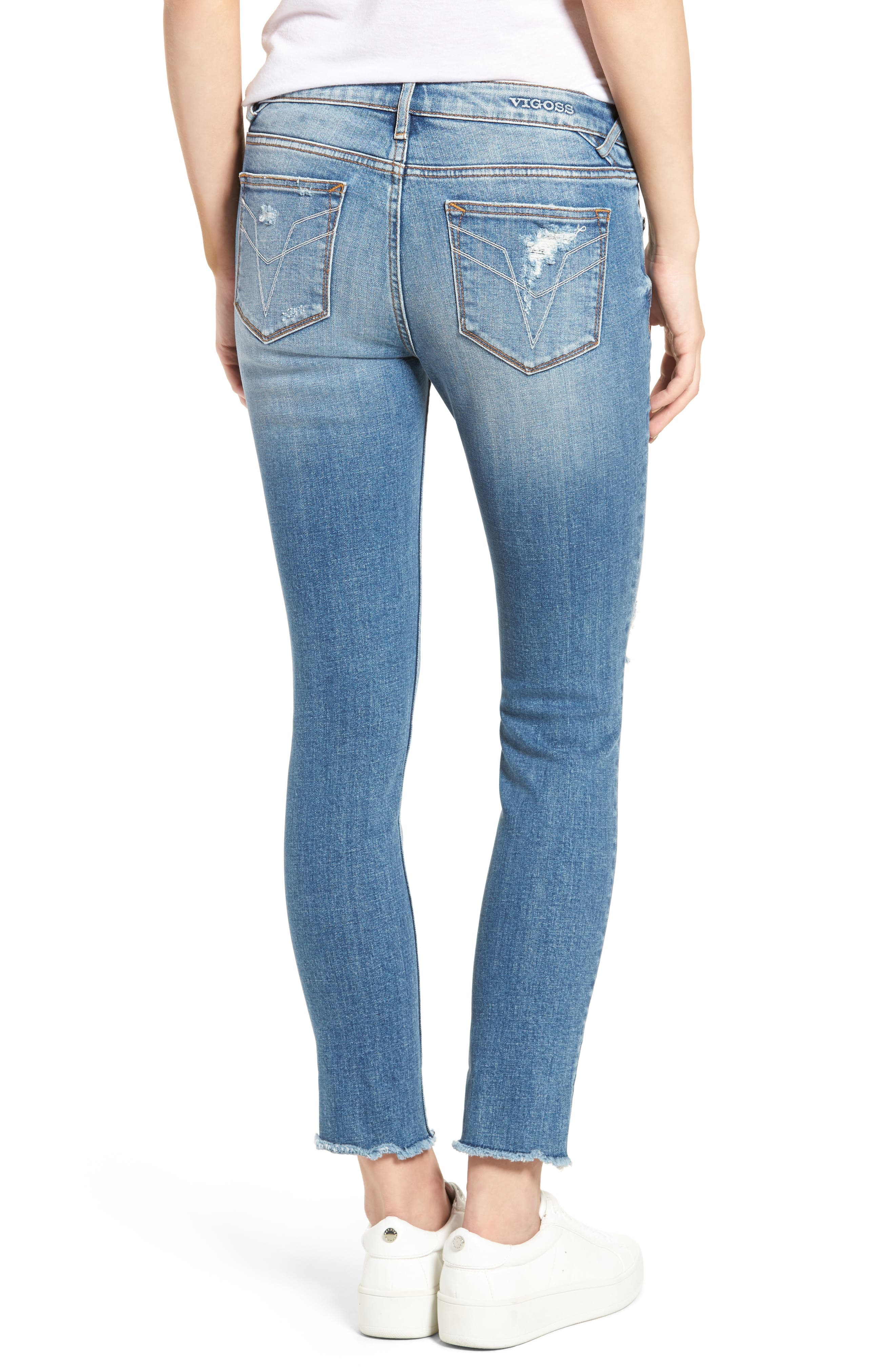 ,                             Chelsea Distressed Skinny Jeans,                             Alternate thumbnail 2, color,                             426