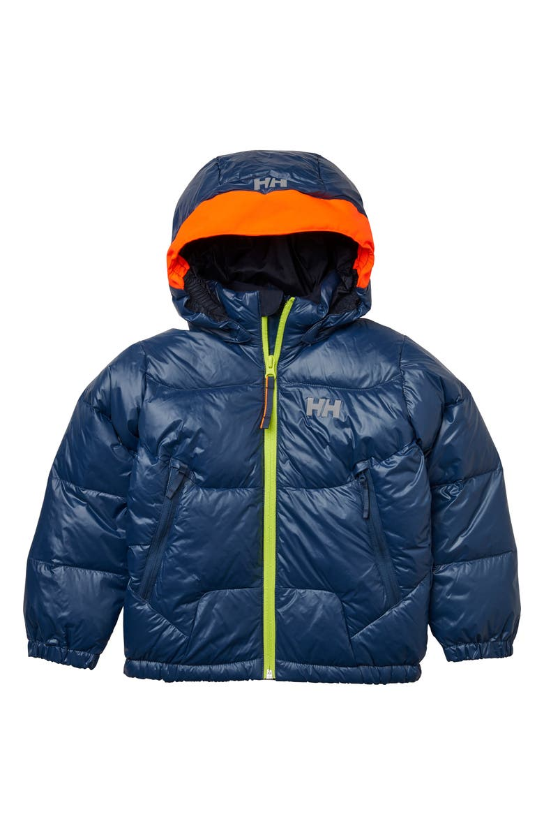 HELLY HANSEN Frost Down & Feather Insulated Jacket, Main, color, NORTH SEA BLUE
