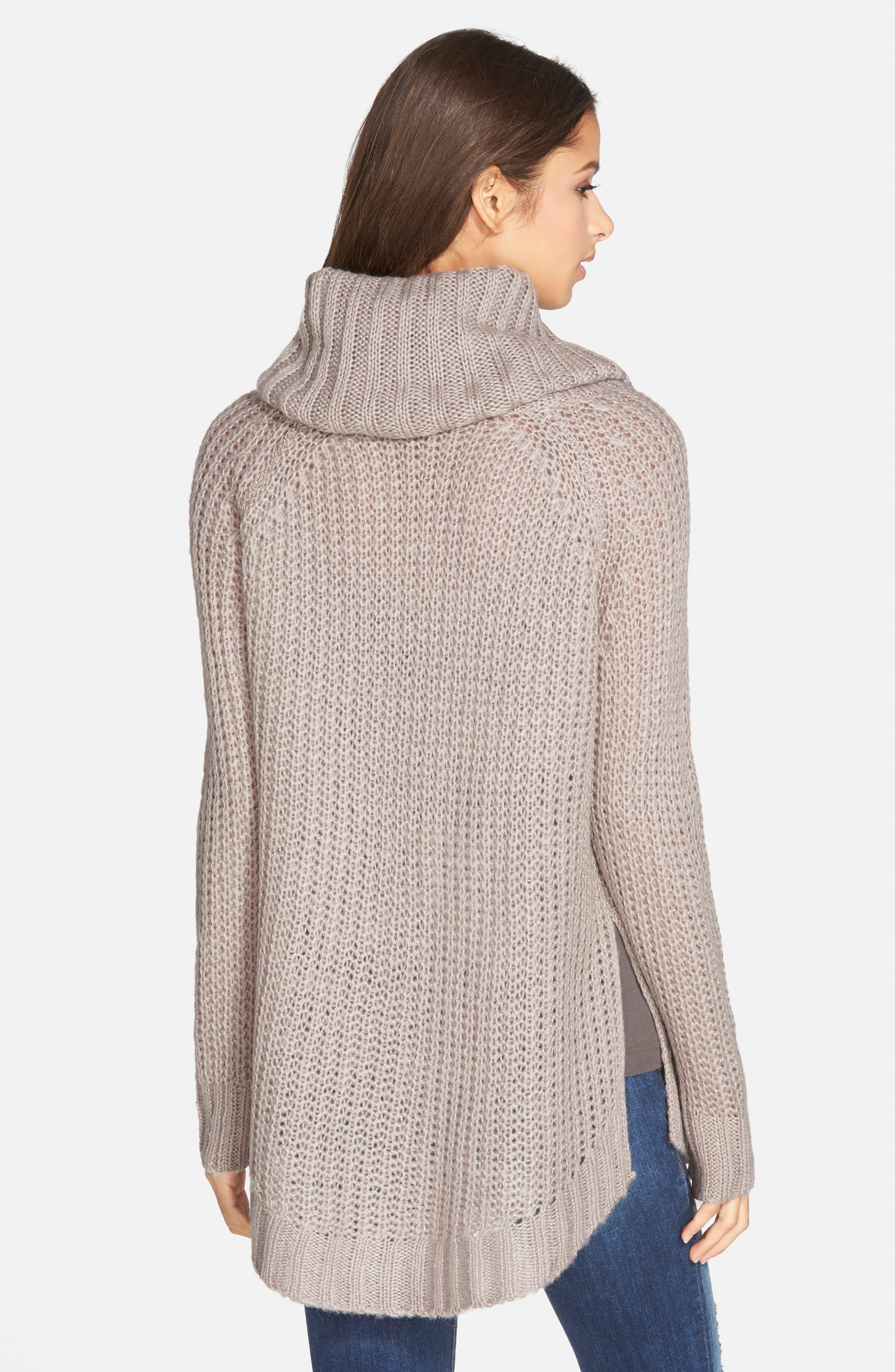 ,                             Cowl Neck Sweater,                             Alternate thumbnail 12, color,                             200