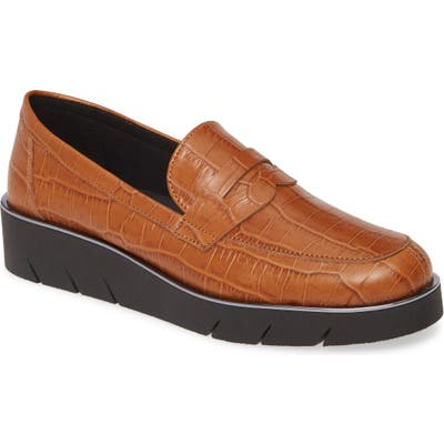 The Flexx Harrow Wedge Loafer- Brown