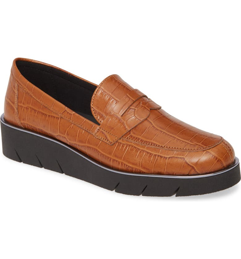 THE FLEXX Harrow Wedge Loafer, Main, color, COGNAC LEATHER
