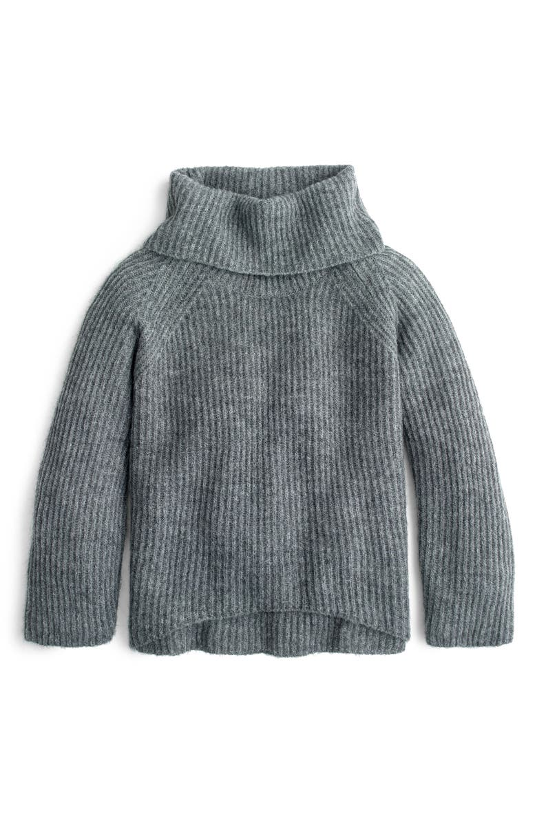 J.CREW Ribbed Turtleneck Sweater, Main, color, 020