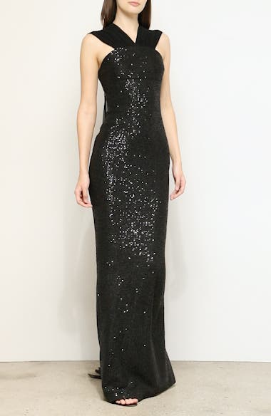 Statement Sequin Knit Evening Gown, video thumbnail