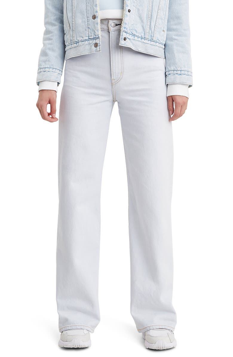 LEVI'S<SUP>®</SUP> Ribcage High Waist Wide Leg Jeans, Main, color, COLD AS ICE