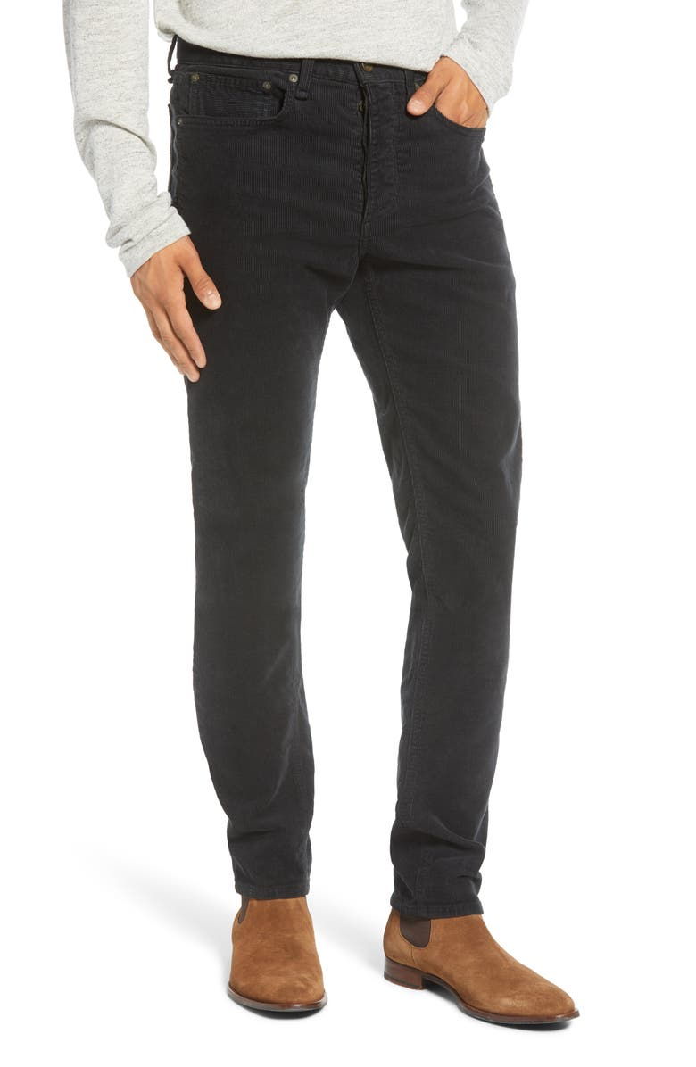RAG & BONE Fit 2 Slim Fit Corduroy Pants, Main, color, 001