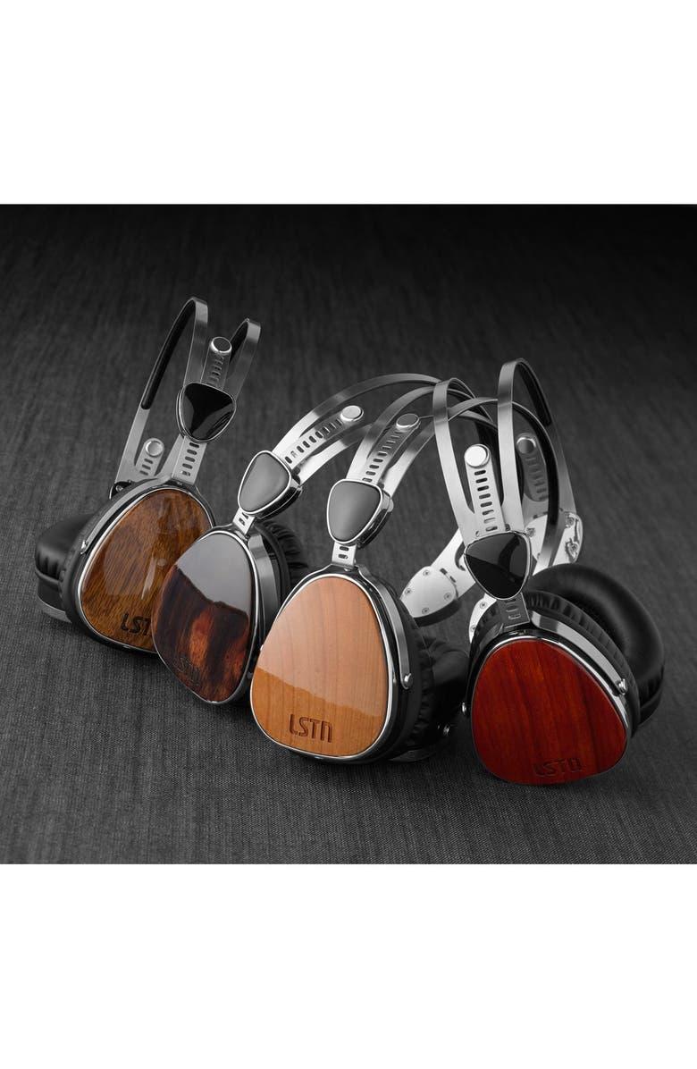 LSTN 'Troubadours' Zebrawood Headphones, Main, color, 000