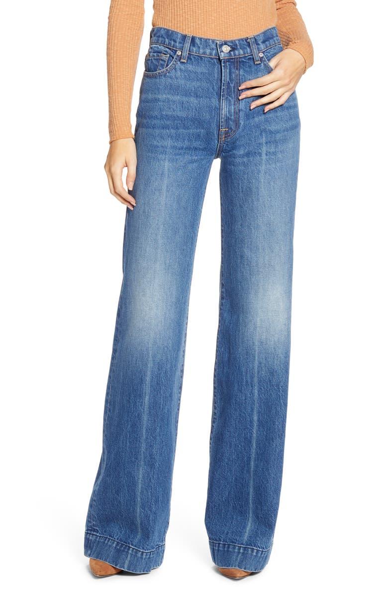 7 FOR ALL MANKIND<SUP>®</SUP> Modern Dojo High Waist Flare Jeans, Main, color, HAVANA RIGID