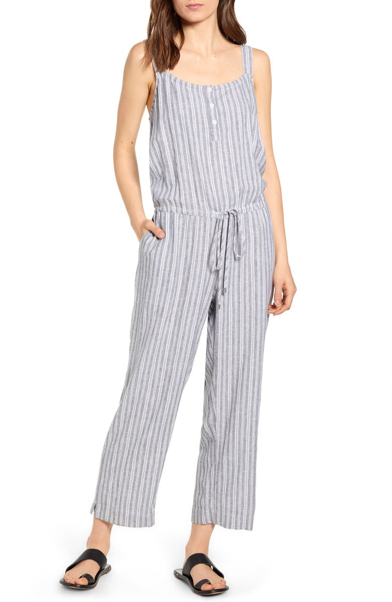 RAILS Sleeveless Tie Waist Jumpsuit, Main, color, 021