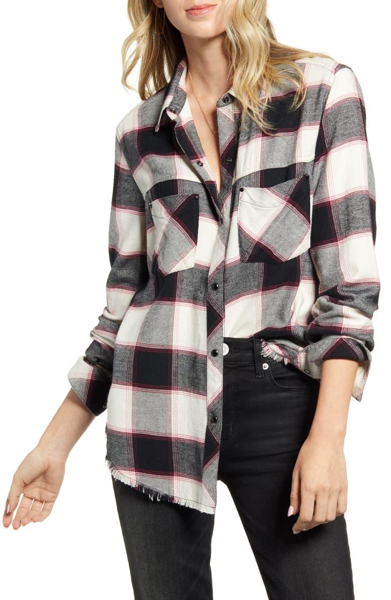 RAILS Leo Plaid Flannel Shirt, Main, color, 100