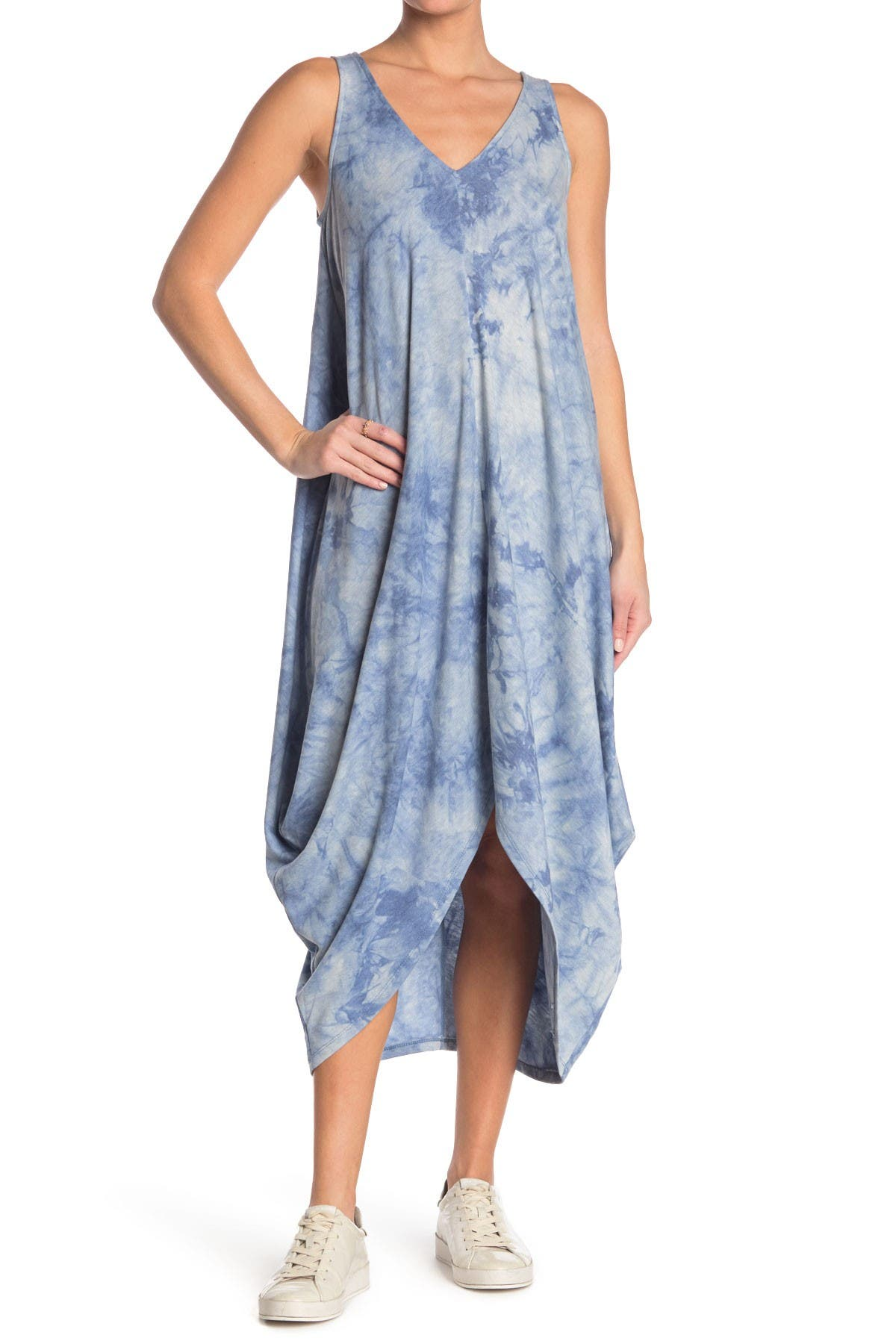 Image of MSK French Terry Shark Bite Maxi Dress