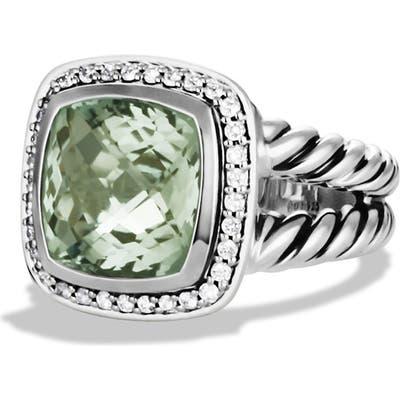 David Yurman Albion Ring With Semiprecious Stone & Diamonds