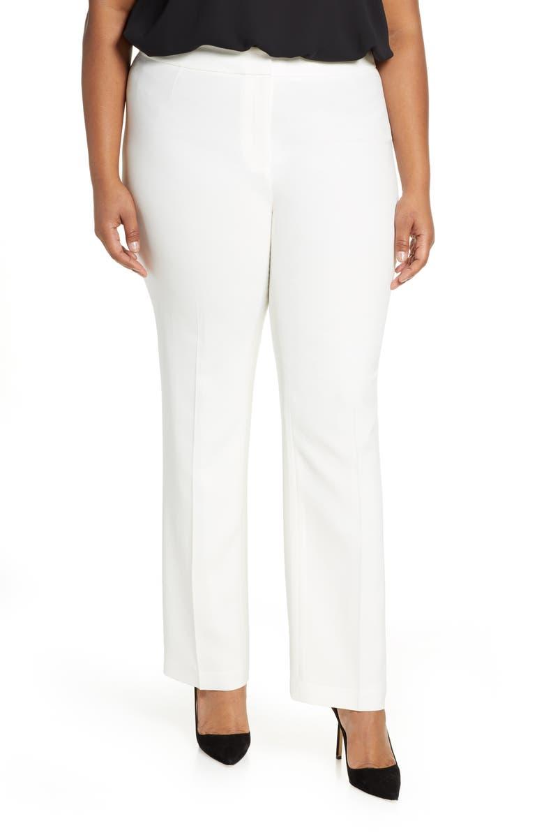 LAFAYETTE 148 NEW YORK Barrow Finesse Crepe Pants, Main, color, CLOUD