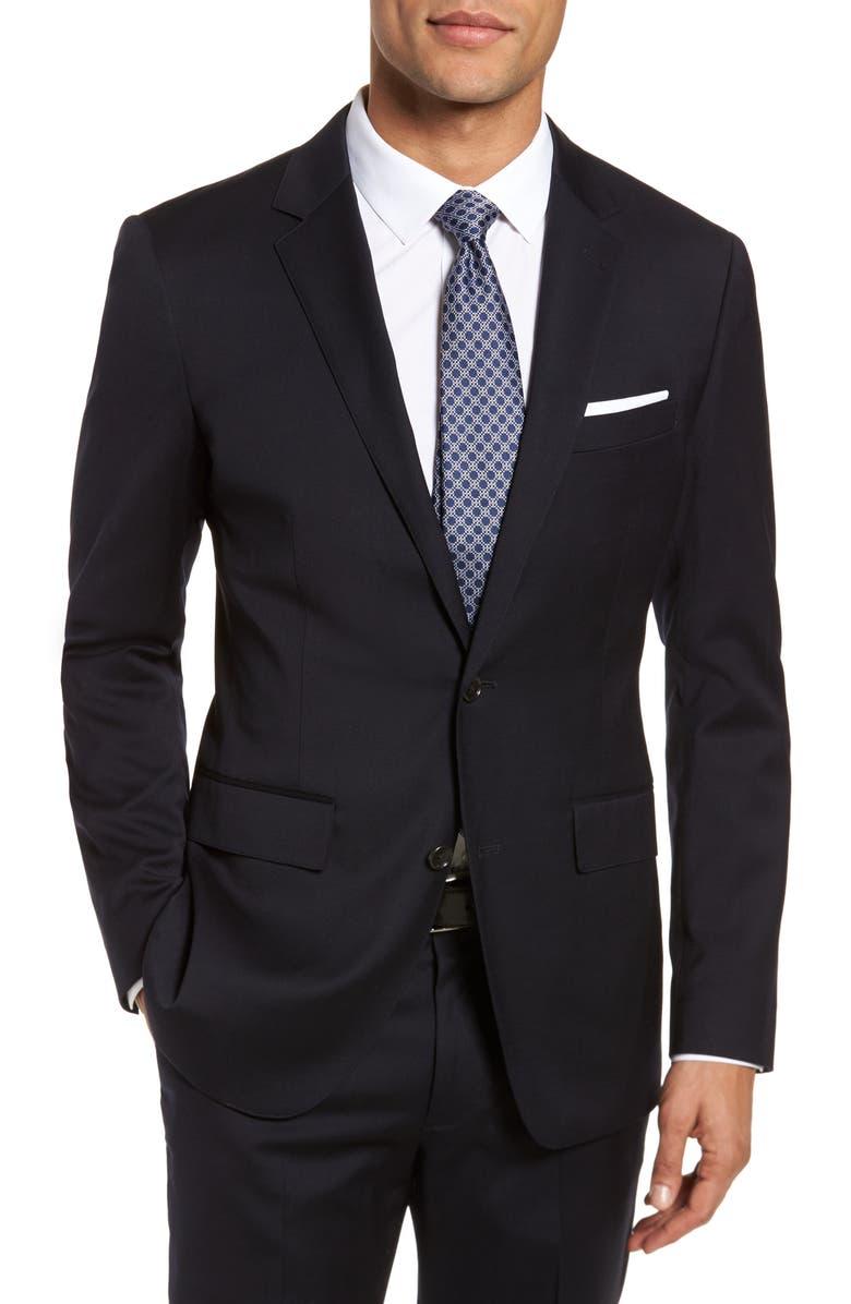 BONOBOS Jetsetter Slim Fit Stretch Wool Blazer, Main, color, BLACK