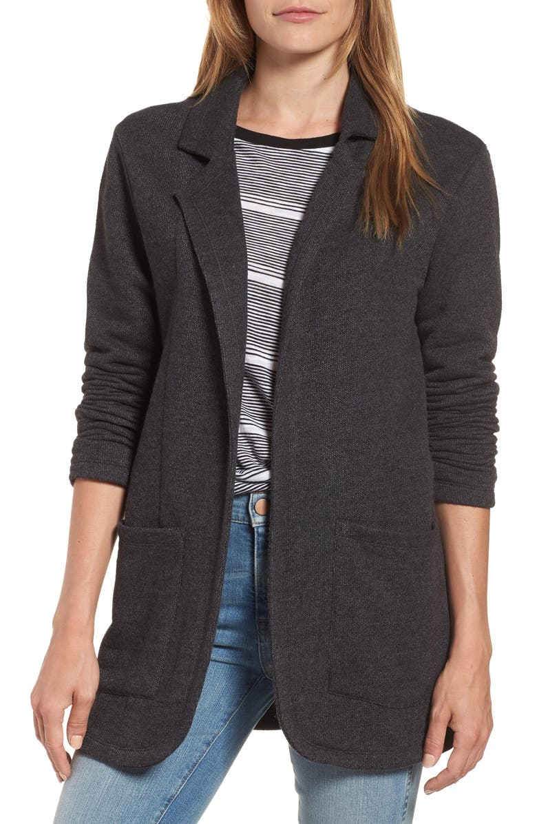 Cotton Blend Boyfriend Blazer by Caslon®