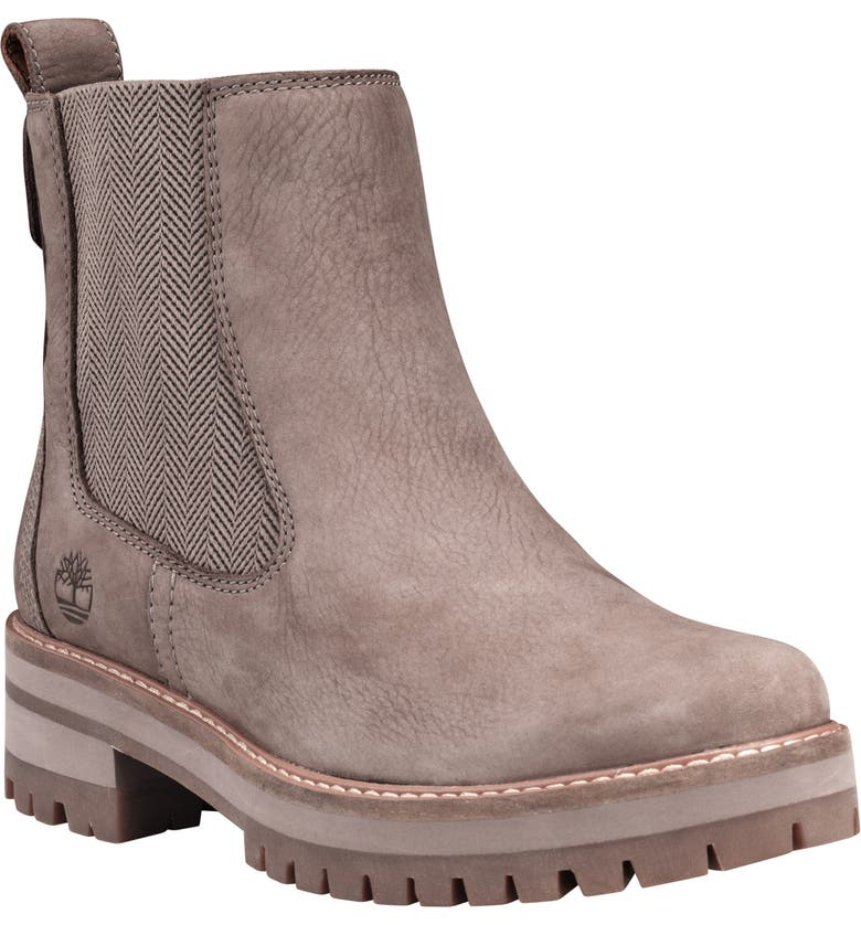 TIMBERLAND Courmayeur Valley Chelsea Boot, Main, color, TAUPE GREY NUBUCK