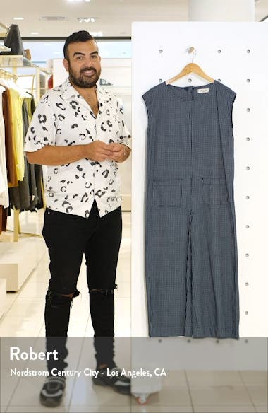 Relaxed Jumpsuit in Mini Windowpane, sales video thumbnail