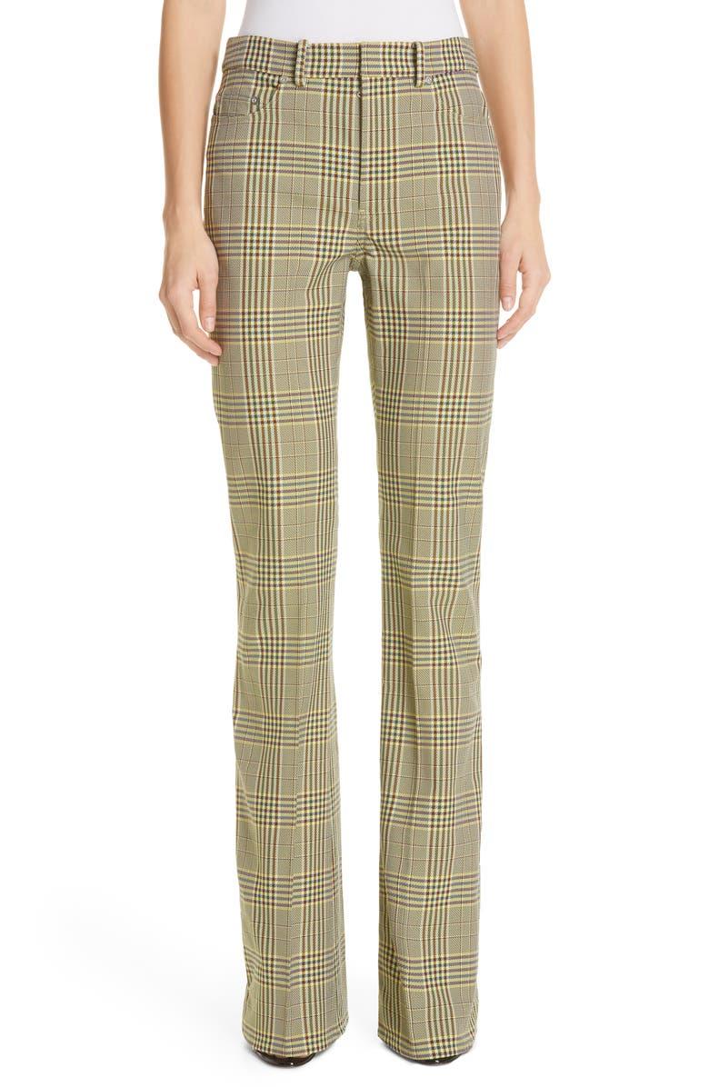 ADEAM Plaid Bootcut Pants, Main, color, 300