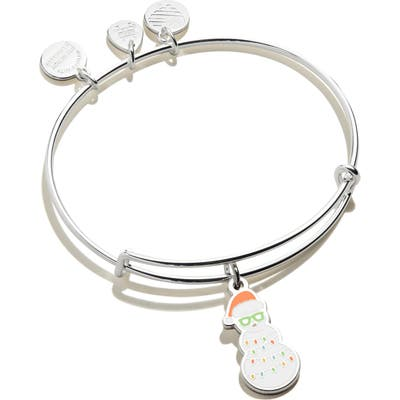 Alex And Ani Color Infusion Holiday Snowman Adjustable Wire Bangle