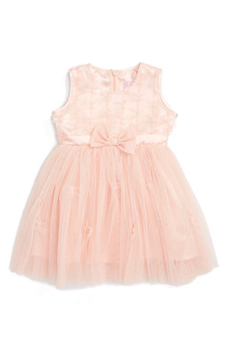 POPATU Sleeveless Tulle Dress, Main, color, PEACH