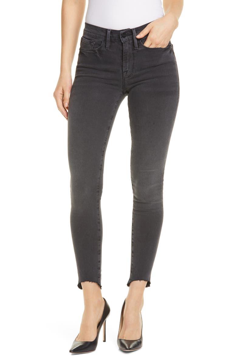 FRAME Le Skinny de Jeanne Ankle Jeans, Main, color, 001