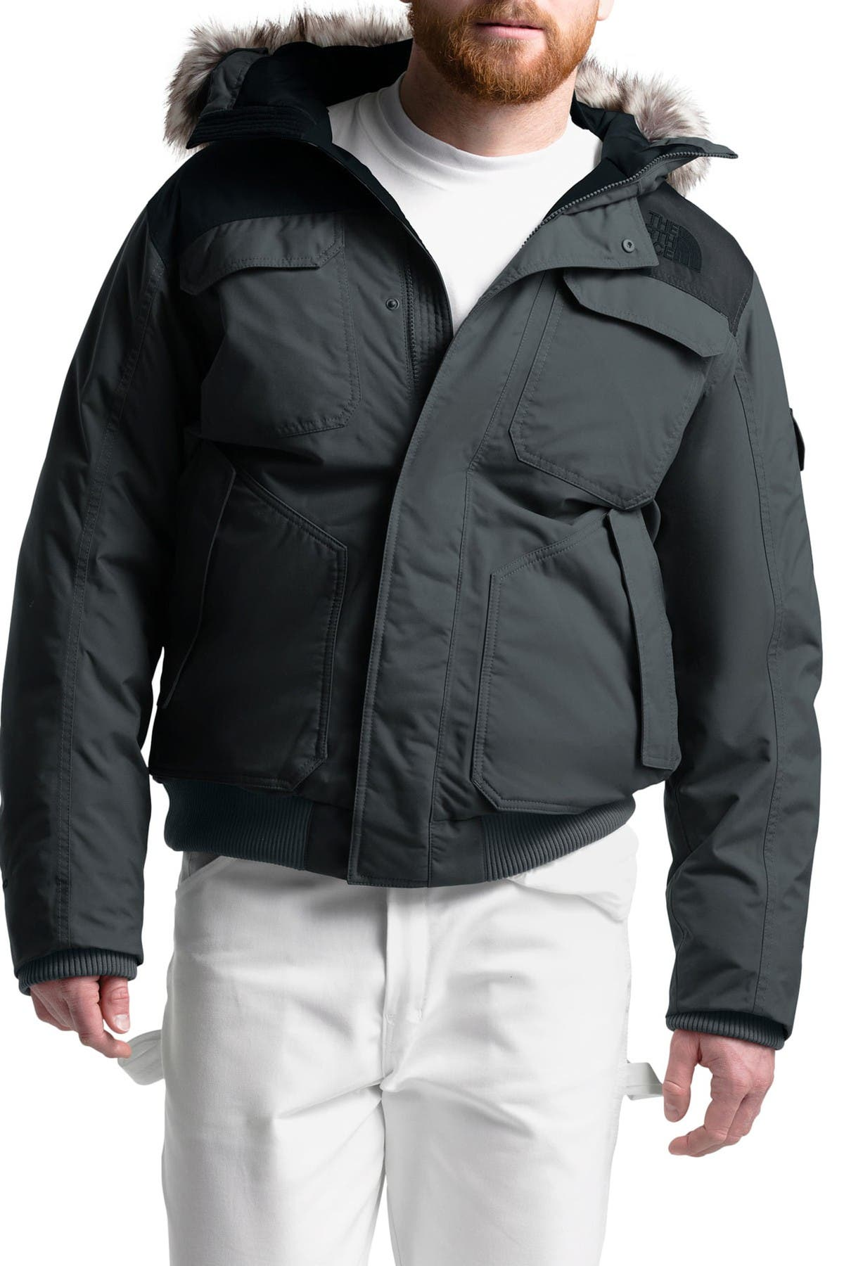 Image of The North Face Gotham III Faux Fur Trim Waterproof Down Jacket