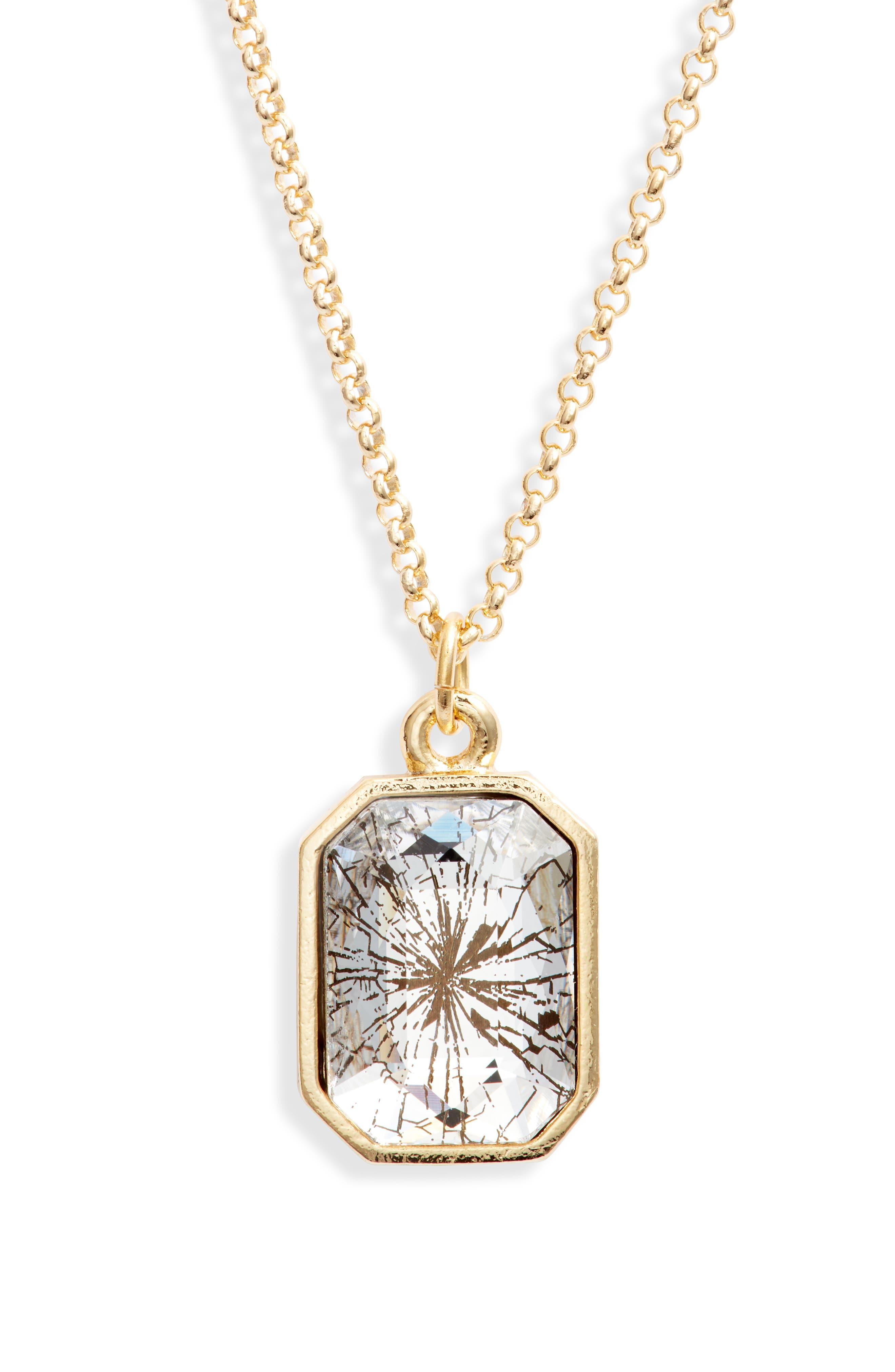 Women's Luca + Danni Glass Ceiling Pendant Necklace