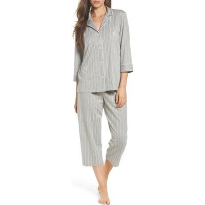 Lauren Ralph Lauren Knit Crop Cotton Pajamas, Grey