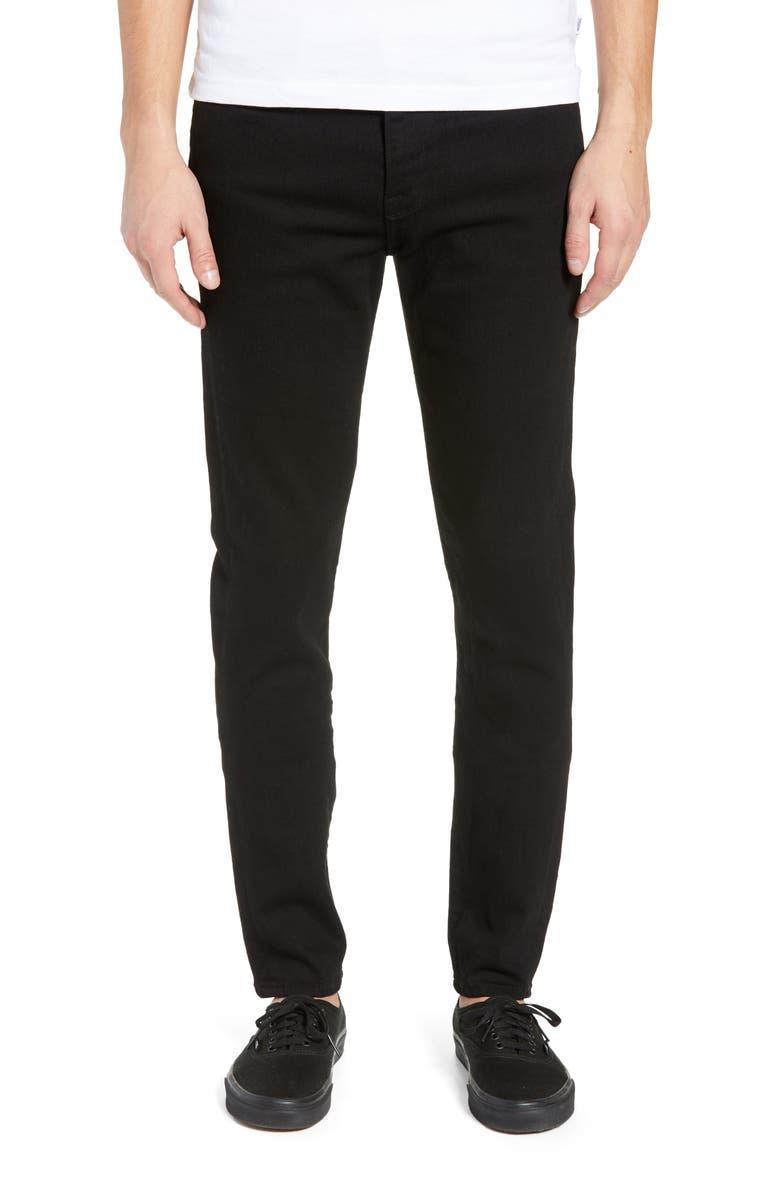 FRAME Jagger Skinny Fit Jeans, Main, color, NOIR